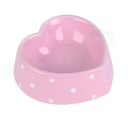 Polka Heart Pet Bowl