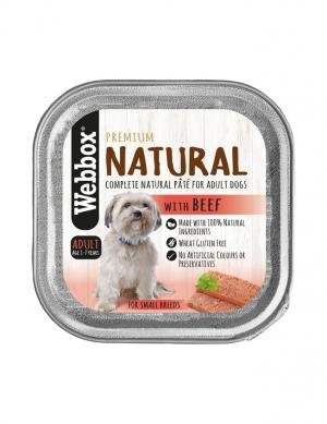 Webbox Natural Beef  Wet Pate 150g
