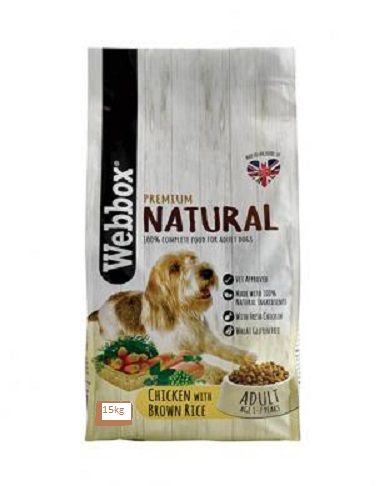 Webbox Natural Chicken & Brown Rice Dry 15kg