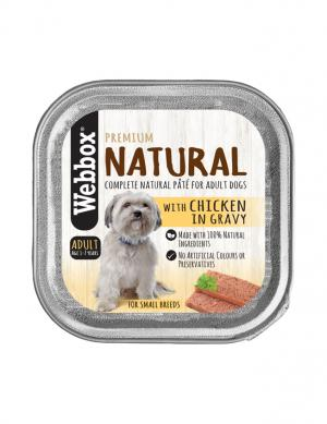 Webbox Natural Chicken Chunks in Gravy 150g