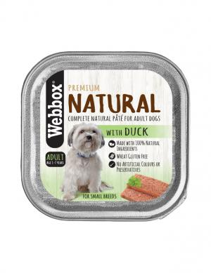 Webbox Natural Duck Wet Pate 150g