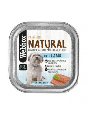 Webbox Natural Lamb Wet Pate 150g