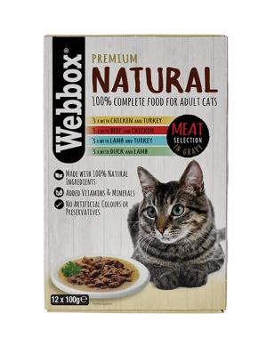Webbox Natural Meat in Gravy 100g x 12